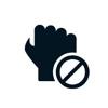 hand no icon